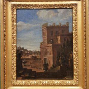J. Veit Coppia di Vedute di Villa Medici del Vascello