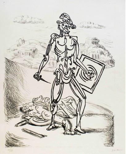 Giorgio De Chirico Il Gladiatore