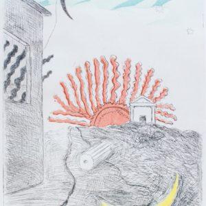 Giorgio de Chirico La Luna e Il Sole