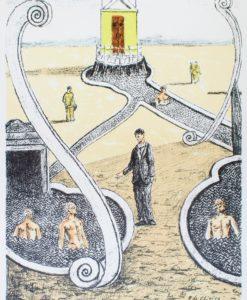 Giorgio de Chirico, L'ospite dei bagnanti misteriosi