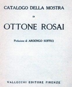 Ardengo Soffici Catalogo della Mostra di Ottone Rosai