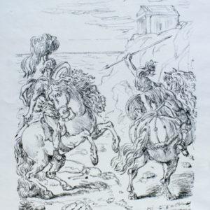 Giorgio De Chirico La Sfida In Riva All'Egeo