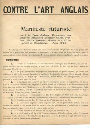 Contre l'Art Anglais: F. Tommaso Marinetti, Christopher R.W. Nevinson