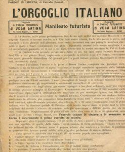 Il Futurismo e la Guerra, L'Orgoglio Italiano