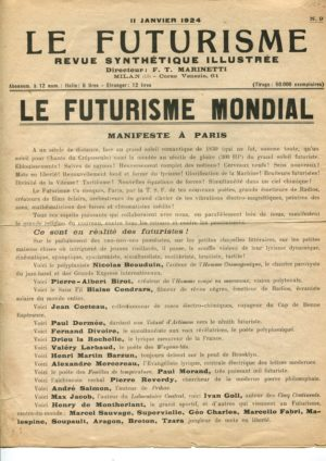 Futurisme et Fascisme. Le Futurisme: Filippo Tommaso Marinetti