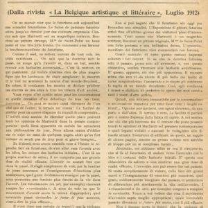 Le Futurisme et la Philosophie - Articolo sul Futurismo scritto da Louis Auguste Joly.