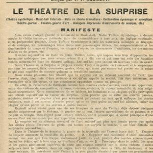 Le Futurisme. Le Theatre de la Surprise