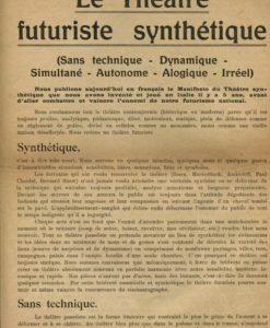 Le Théâtre Futuriste Synthétique