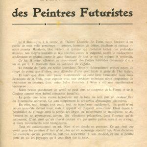 Manifeste des Peintres Futuristes