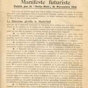 Marinetti Le Music-Hall - Manifeste Futuriste