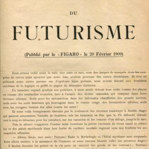 Marinetti Manifeste du Futurisme