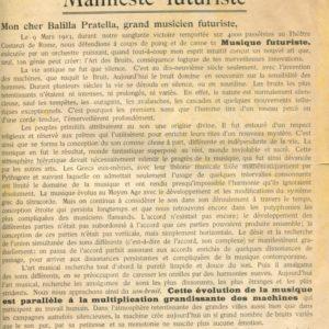 Luigi Russolo, L'Art des Bruits