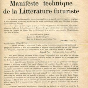 Supplément au Manifeste: Filippo Tommaso Marinetti